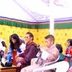 Rinpocze z żoną i synem