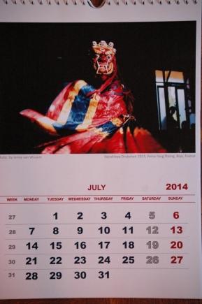 Strona kalendarza - lipiec 2014 r.