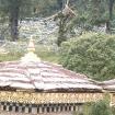 Flagi modlitewne przy stupach